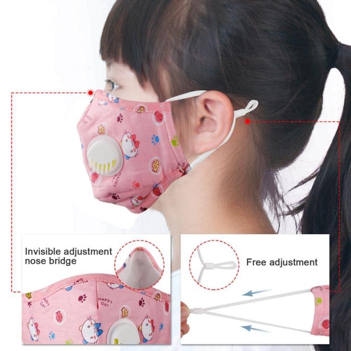 comment se proteger du coronavirus après le déconfinement, modèles de masques de visage pour enfant confort de respiration