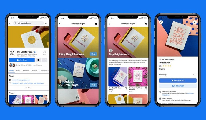 Avec Facebook Shops, les commerçants vont pouvoir vendre leurs produits via le réseau social