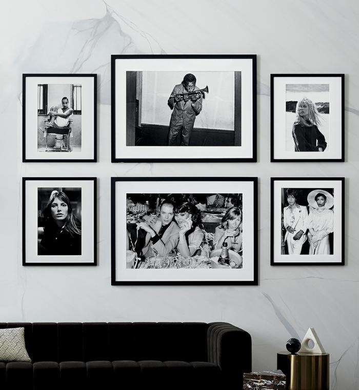 Comment creer un photo mut originale idée comment décorer un mur avec cadre pele mele photo noir et blanc
