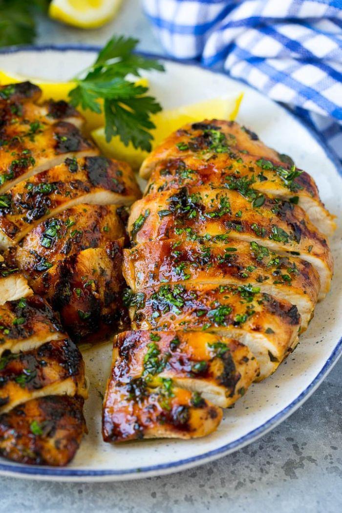 idée marinade d epoulet au jus de citron, cassonade, thym, que faire avec des blancs de poulet pour le repas du soir