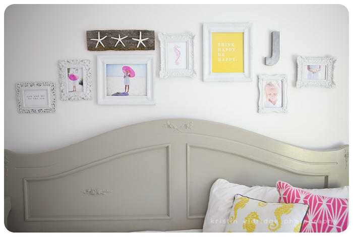 Tete de lit et cadre pele mele photo geant, exposer ses photos favoris sur le mur porte photo