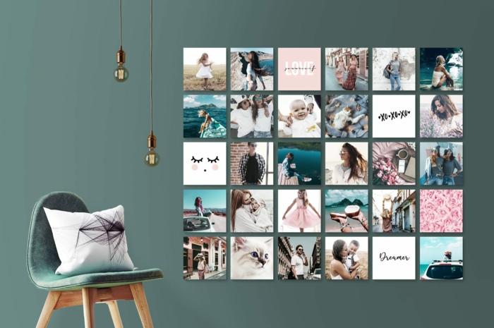 Comment organiser son tableau de visualisation sur le mur cadre plusieurs photos, originale idée déco et disposition des photos