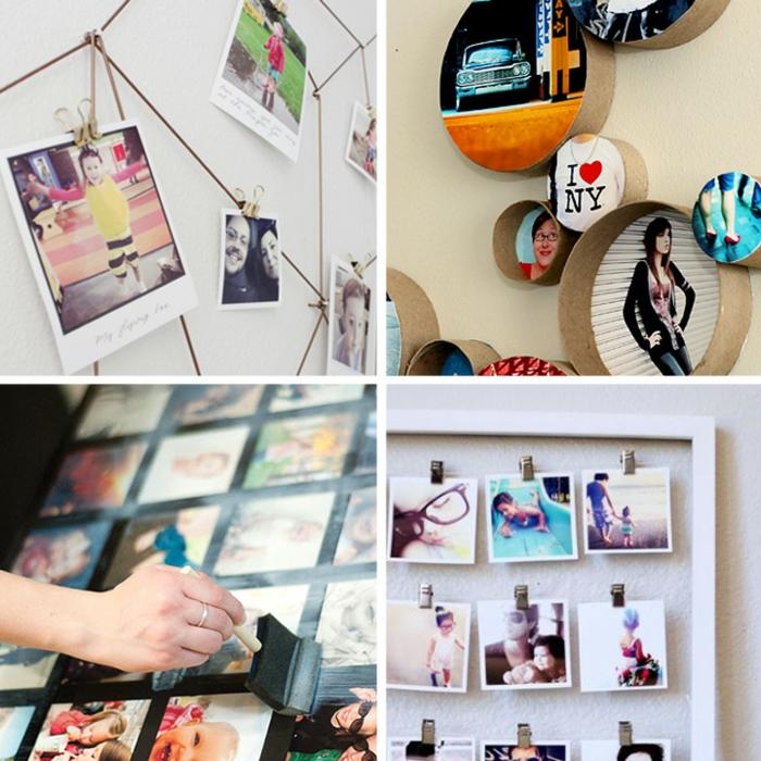 Quatre idées cadre photo deco de chambre ado, aménagement chambre étudiant