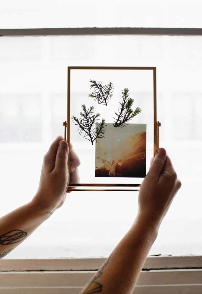 Presse branche et photo loisir créatif cadre photo à faire soi-même, cadre multi photo original