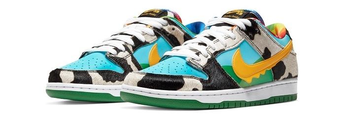 Nike x Ben & Jerry's, découvrez la SB Dunk Low Chunky Dunky colorée et texturée
