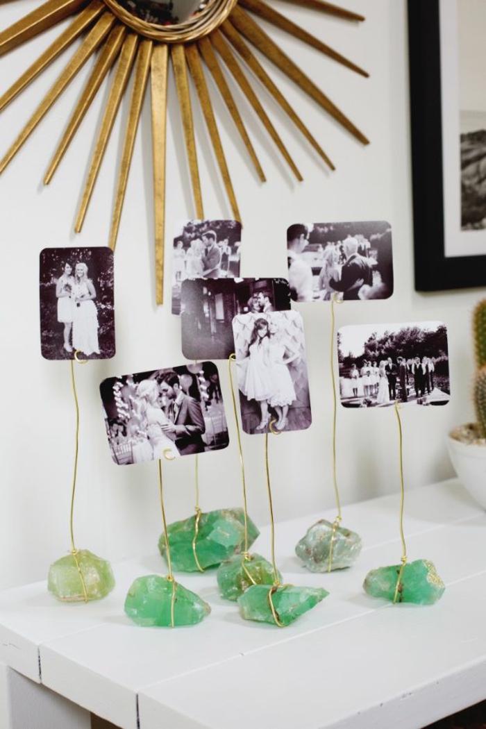 Utiliser les pierres précieux activité manuelle pour adulte, simple cadre multi photo diy idee porte photo