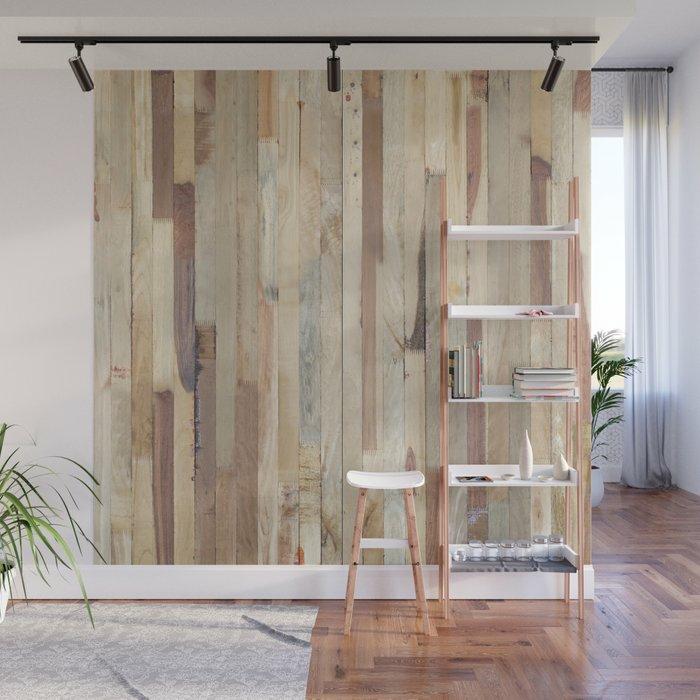 Déco murale à l'aide de palettes, échelle rangement bois, poser les planchers horizontalement ou verticalement