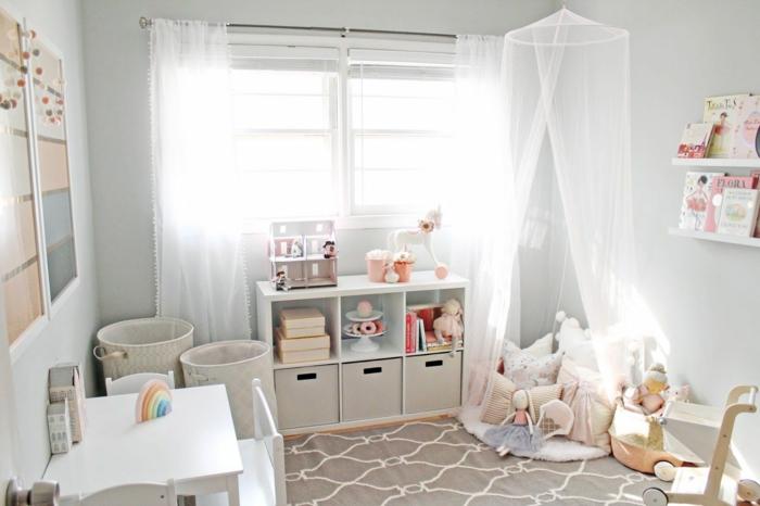 Adorable chambre coin de jeux decoration chambre fille 10 ans, idée déco chambre bébé méthode montessori