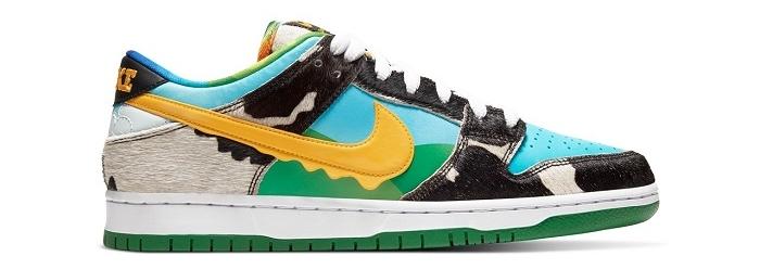 La Nike SB Chunky Dunky issue de la collaboration avec la marque de glace ben & Jerrys arrive en ligne ce 26 mai sur SNKRS