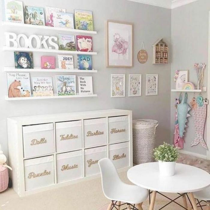 Chambre bien rangée échelles livre peinture chambre fille, comment peindre une chambre de fille ado
