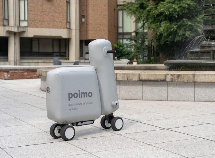 Des étudiants de Tokyo invente Poimo, un modèle de trottinette électrique gonflable