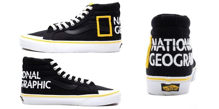 Sneakers 2020 Vans National Geographic, découvrez la Sk8 Hi brodée du logo du média nature américain