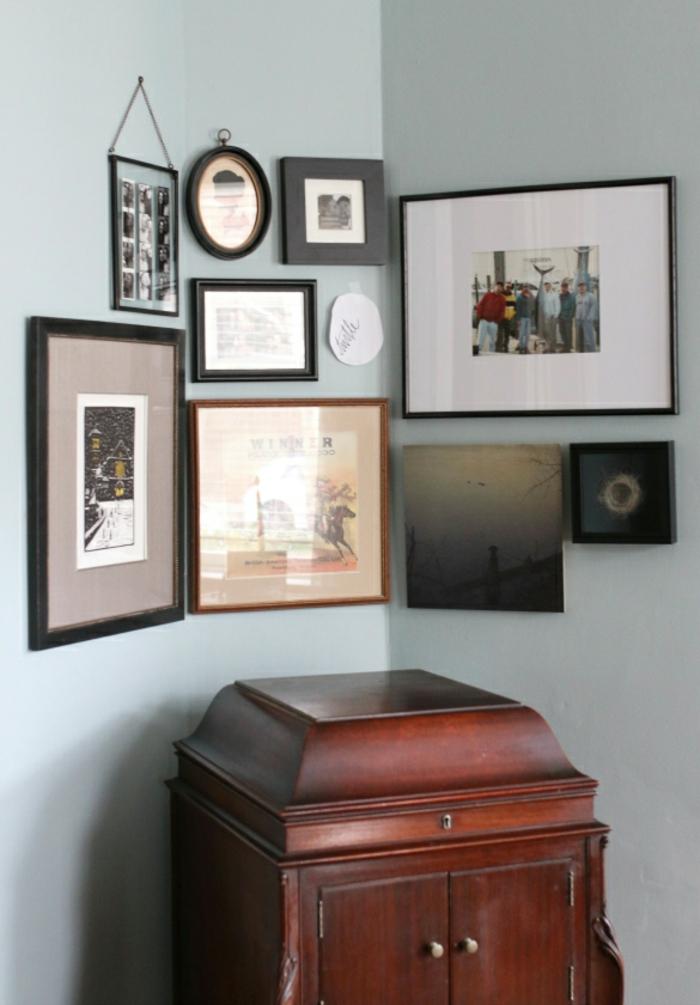 Coin déco avec cadre photo original, image cadre pele mele pour ses favourites photographies