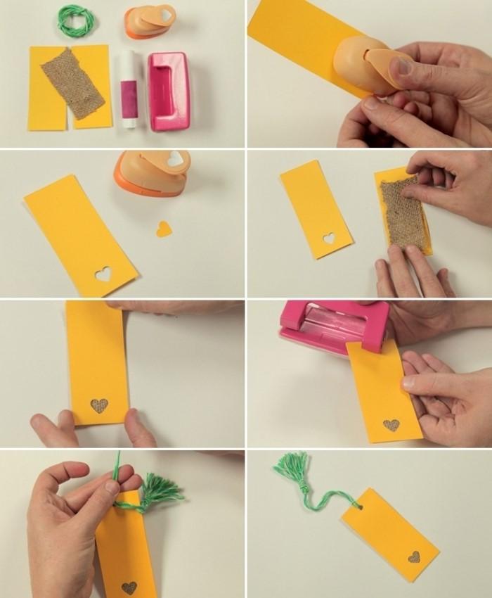 étapes à suivre pour faire un marque-page original et petit budget, activité manuelle ado facile, diy bookmark en papier