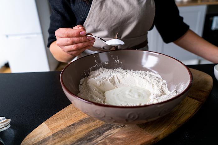comment faire une galette indienne avec de la farine blanche et yaourt grec avec bicarbonate de soude