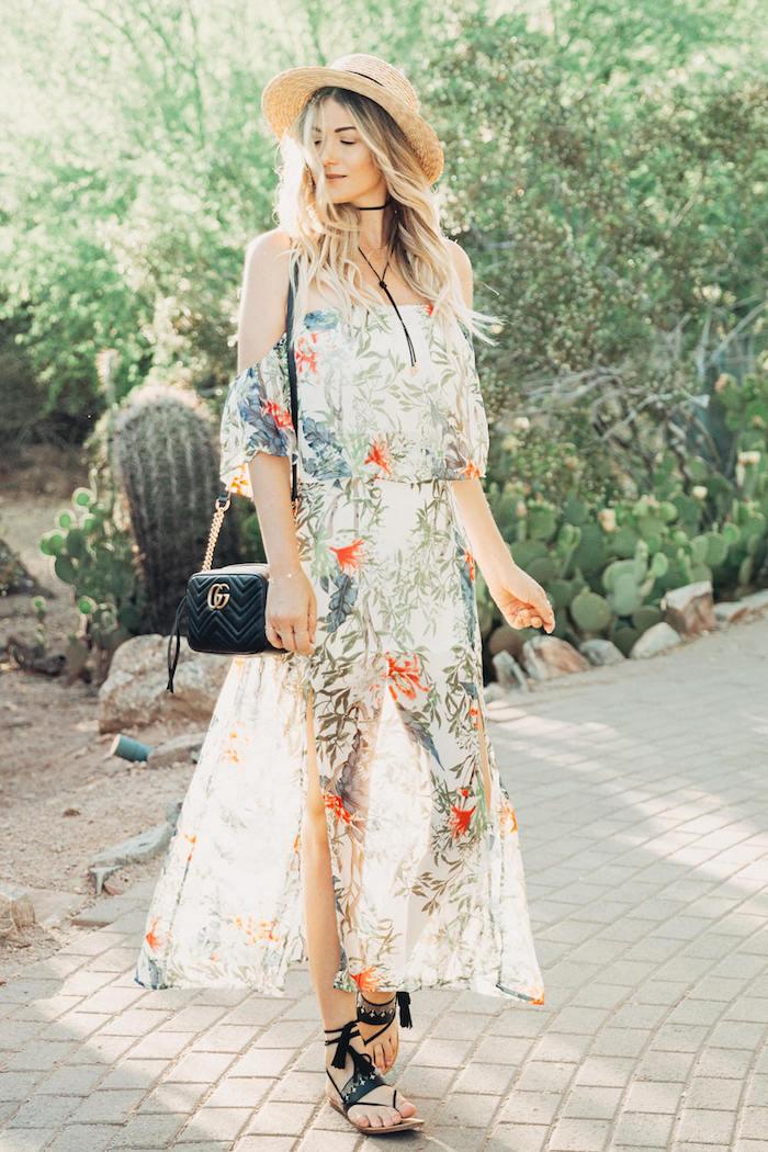 décontractée robe longue dentelle fleurie robe fleurie mariage avoir de la swag avec une robe fleurie femme sandales sans talon