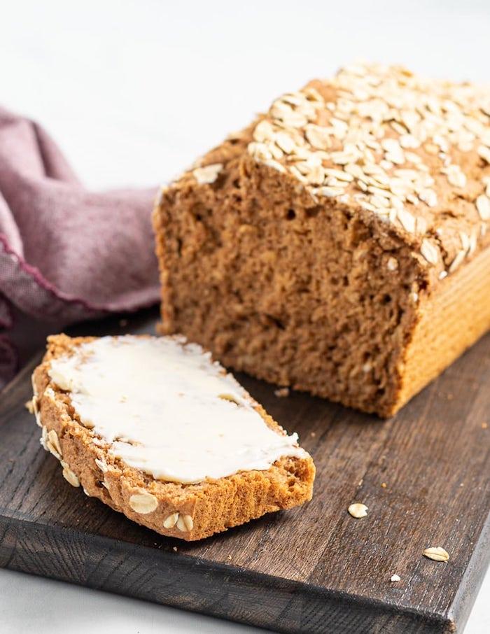 faire son pain sans levure et avec de la petite épeautre et des flocons d avoine, idée pain sans gluten