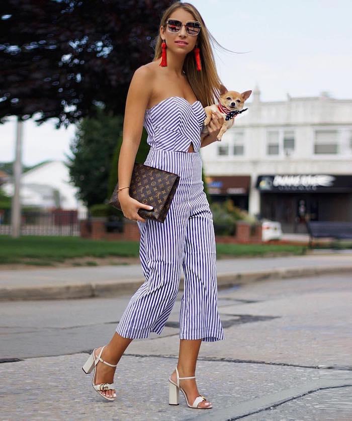 femme habilee en salopette pantalon mi long sandales a talon robe été femme comment s habiller en été adopter la robe d ete petit chien