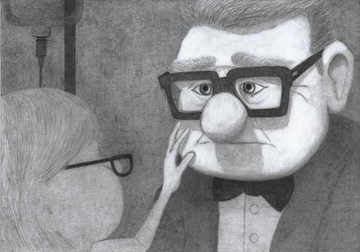 Up dessin fille triste, dessin depression, idée fond d'écran triste dessin animé triste