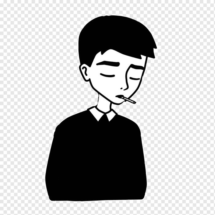 Garçon avec cigare dans les levres visage dessin facile a faire pour debutant,dessiner la tristesse expression sentiment