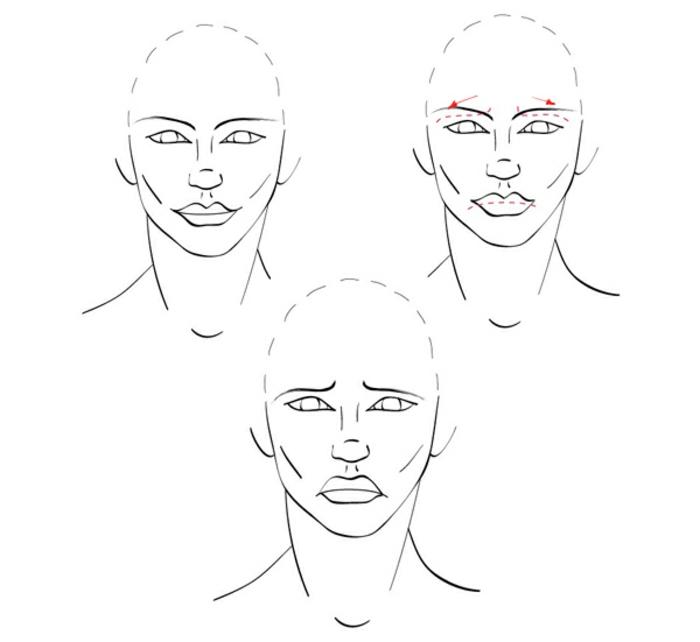 Visage expression triste ou heureuse comment faire un dessin triste inspiration dessin facile fille