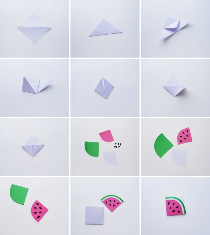 comment réaliser des marques-pages originaux en forme de fruit, activités manuelles maternelle facile et rapide, diy bookmark en papier