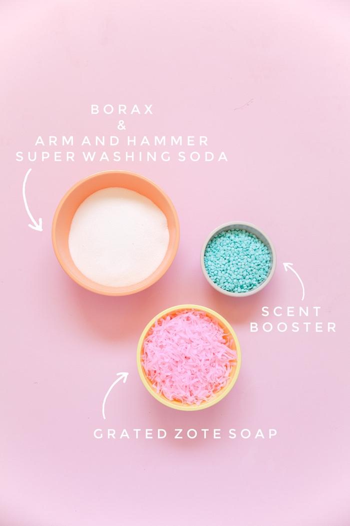idée ingredients pour faire sa lessive soi même avec borax et savo râpé et arôme recette savon diy