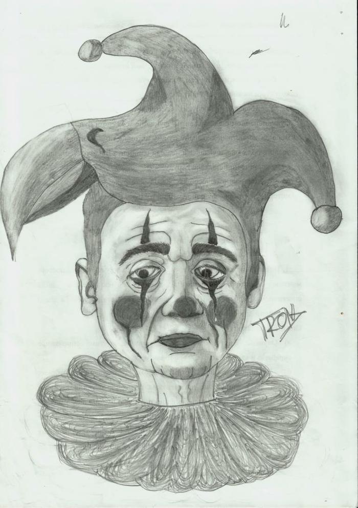 Joker triste, idée dessin personnage triste, dessin triste facile, visage dessin, apprendre à dessiner