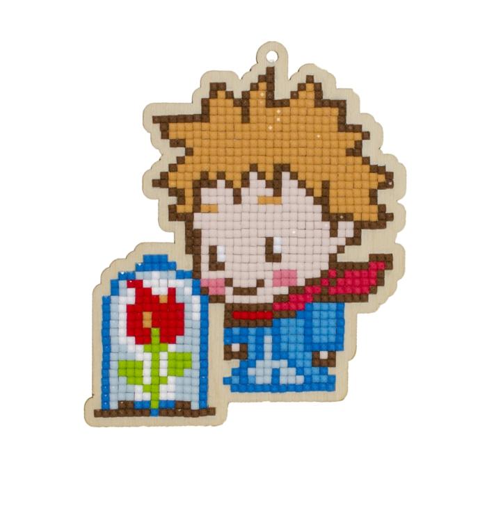 Le petit prince avec sa rose creation diamant, broderie diamant créer une broderie originale