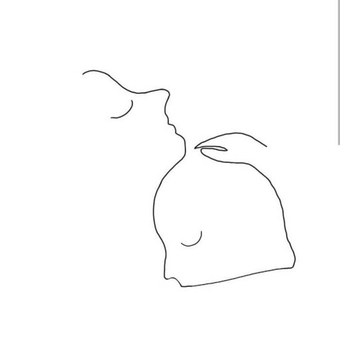 Une seule ligne pour deux personnes en embras dessin triste facile a reproduire, comment apprendre à dessiner femme