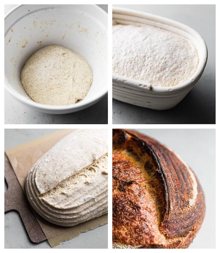 comment faire son pain au levain maison avec farine blanche, recette facile de levain