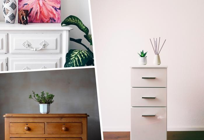 plante verte d intérieur aménagement chambre à coucher adulte meuble de rangement commode bois choix de commode parfaite