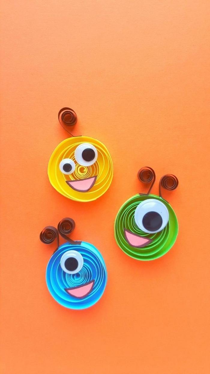 activité manuelle primaire, technique de quilling facile pour tout petit, idée de bricolage facile et petit budget pour enfant