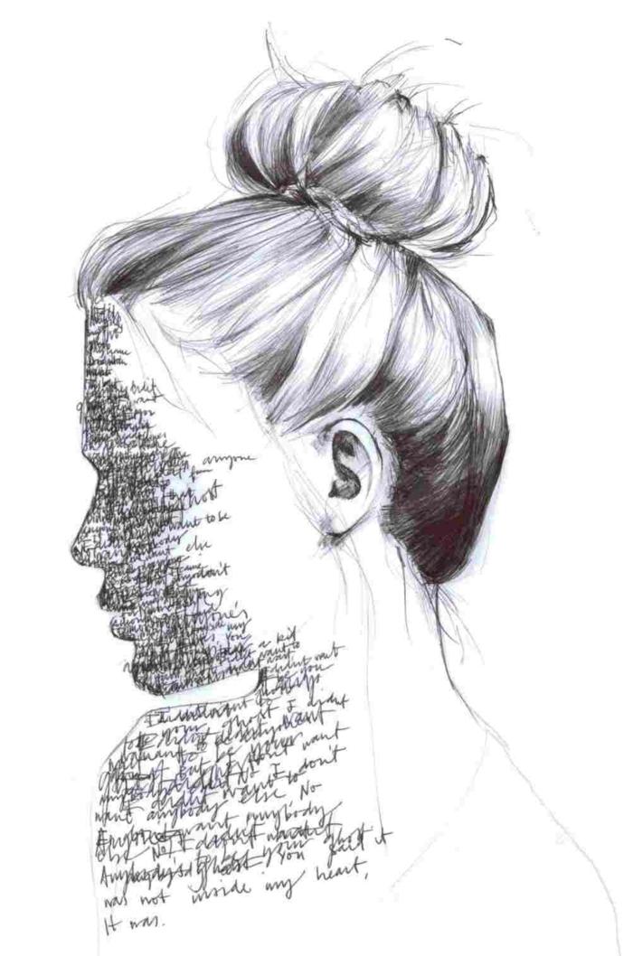 Fille sans visage les pensées qui se repetent dessin fille triste, dessin de la tristesse facile a reproduire sentiments