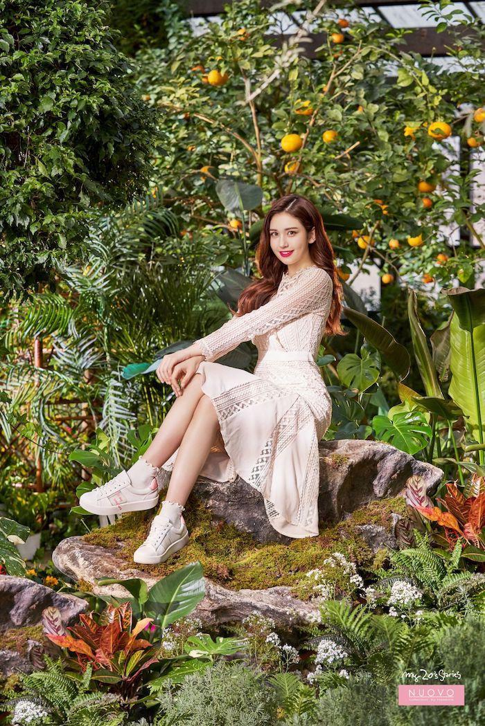 robe et baskets rose pale idée tenue femme robe d été femme originale style d ete