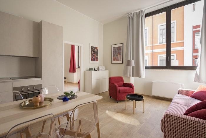 Rouge et blanc cuisine moderne repeindre sa cuisine, maison quelle couleur pour une cuisine inspiration