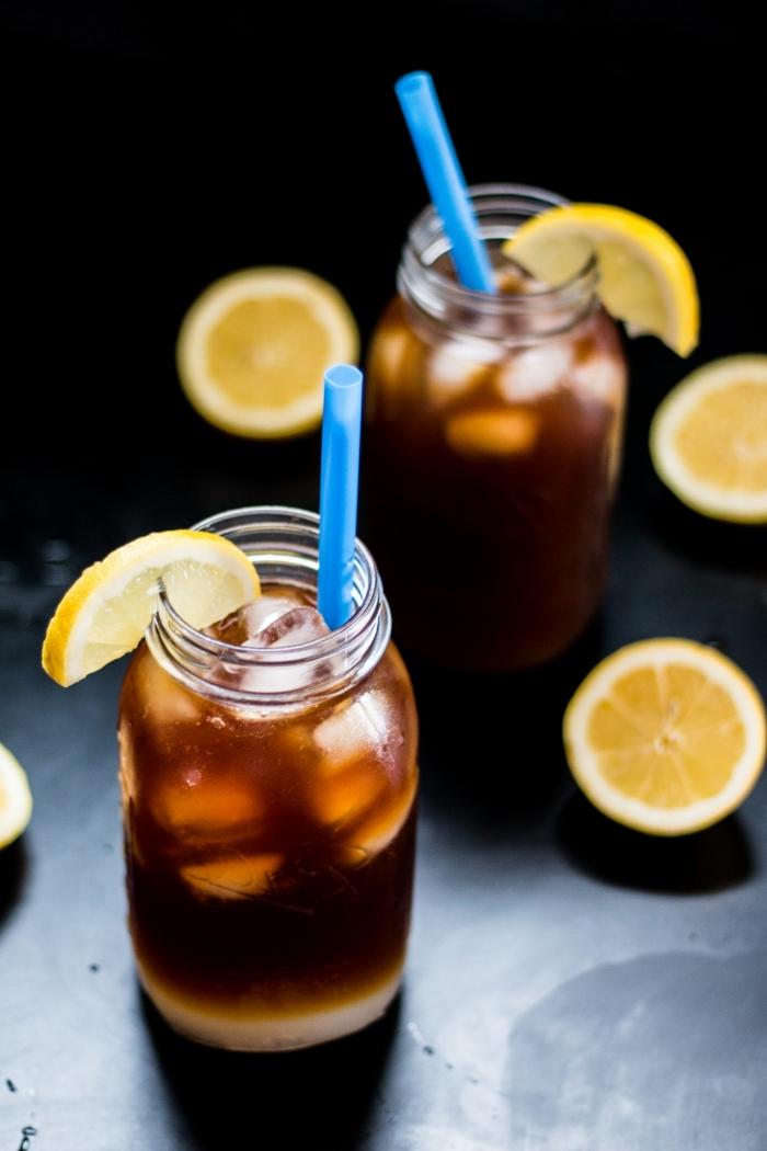 recette de citronnade au café facile et originale, comment préparer un café glacé maison avec jus de citron et édulcorant