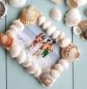 activité manuelle facile 3 5 ans cadre photo diy décoré de coquillages de mer photo de famille originale