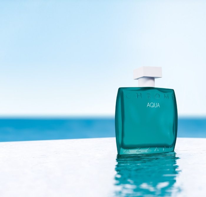 azzaro chrome aqua flacon idée parfums pour homme ete 2020