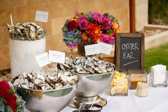bar aux huitres exemple de repas de mariage buffet interessant huitres citron et autres accompagnements