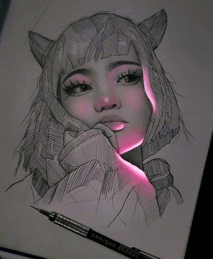 beaux dessins au style tumblr originale idée illuminer le dessin dessin fille noir et blanc swag dessins à faire soi meme