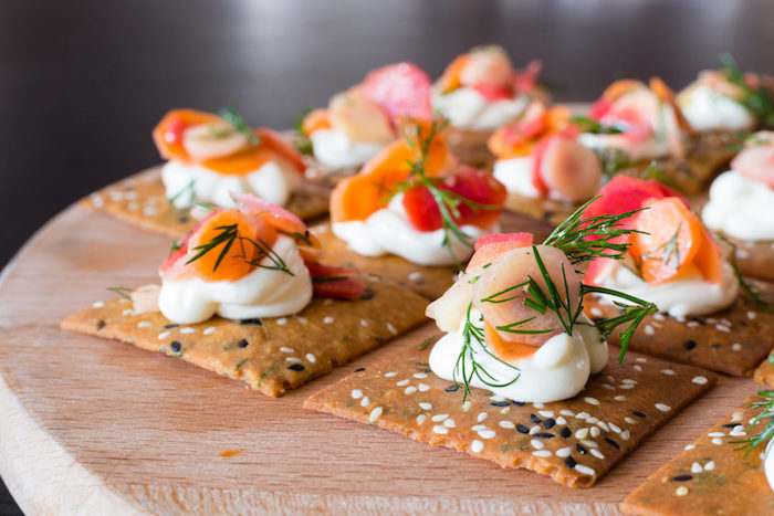 heirloom carrot canapes