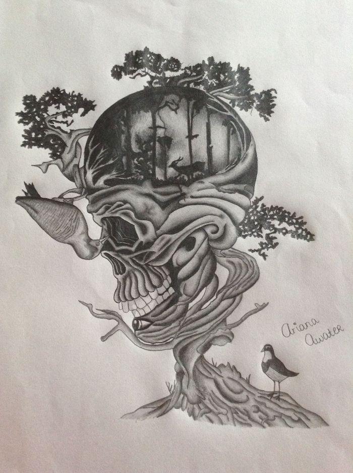 crane avec la nature autour fille tumblr dessin les meilleures idées de dessins à faire originale odee