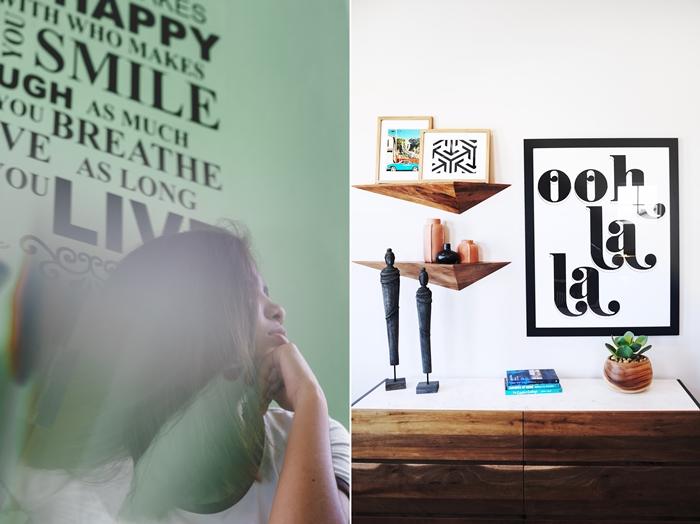 decoration murale design interieur deco chambre a coucher ado stickers muraux lettrage sticker texte citation autocollants