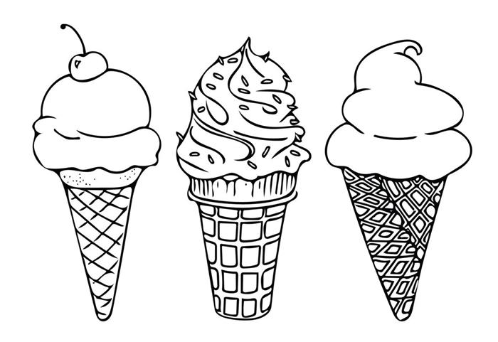 dessin a dessiner facile petite section comment dessiner crème glacée facile cerise crème été dessert image enfant art coloriage