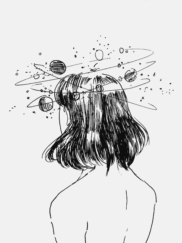 fantastique idée image a copier la tete au ciel universe qui gravite autours idée fille tumblr dessin quel est le plus beau dessin du monde