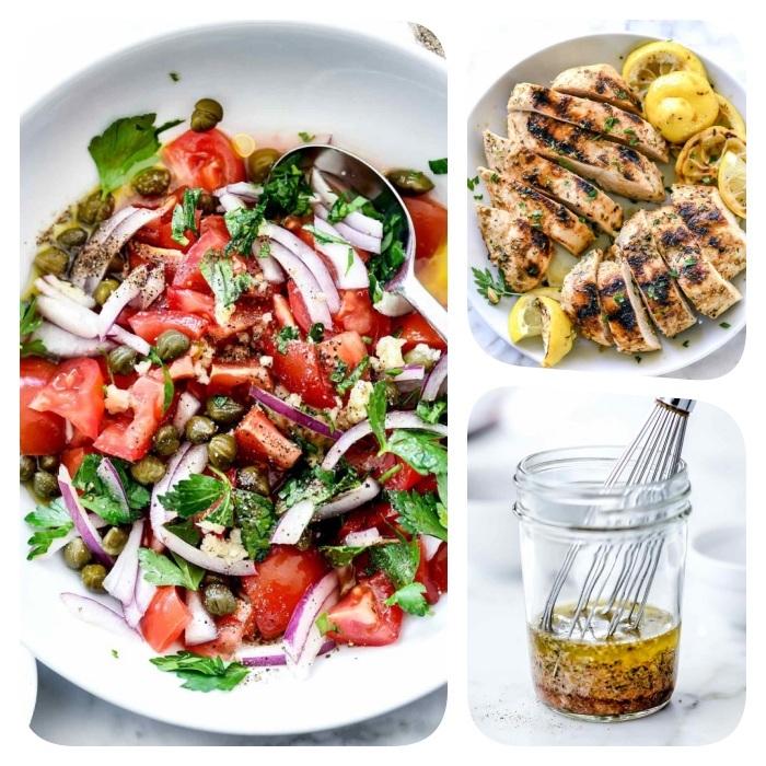 idée salade composée comment faire une salade grecque aux tomates oignons persil concombres chez soi