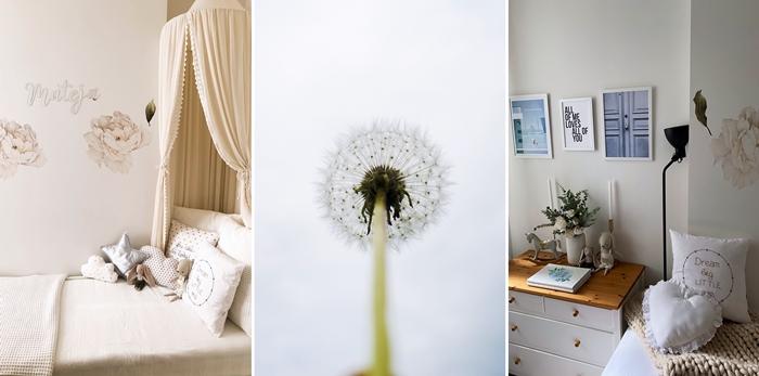idee decoration chambre enfant avec stickers muraux autocollants vinyle design chambre bebe stickers fleurs