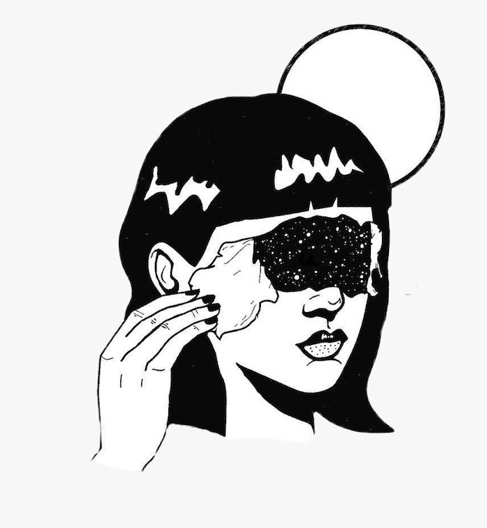 la lune femme cheveux mi longs et frange dessin facile a faire de fille tumblr dessin inspiratrice debutants universe dessin au lieu des yeux