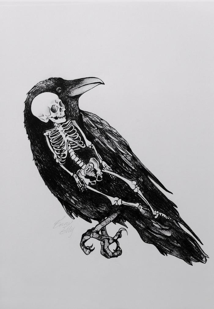 metaphore l oiseau mort dessin facile fille essayer à recréer un dessin tumblr simple comment dessiner un squelleton